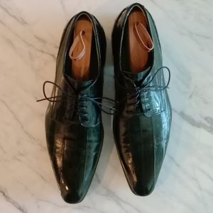 Eel leather dress shoes - size 9